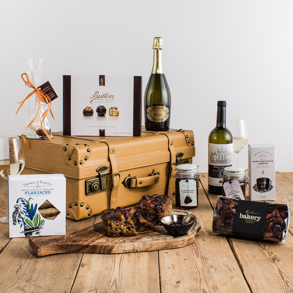 The Vintage Suitcase Collection Hamper from Peach Hampers | Peach ...