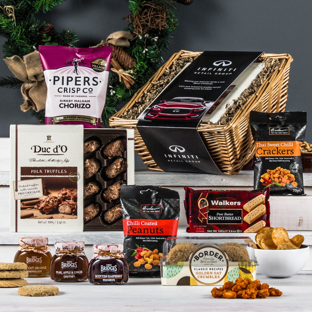 The christmas treat hamper peach hampers the treat corporate hamper forumfinder Images