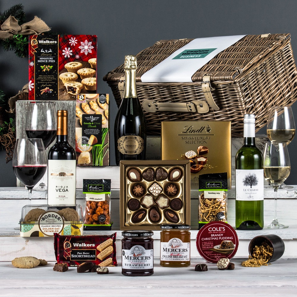 Wedding Gift Hampers Uk: The Christmas Feast Corporate Hamper From Peach Hampers