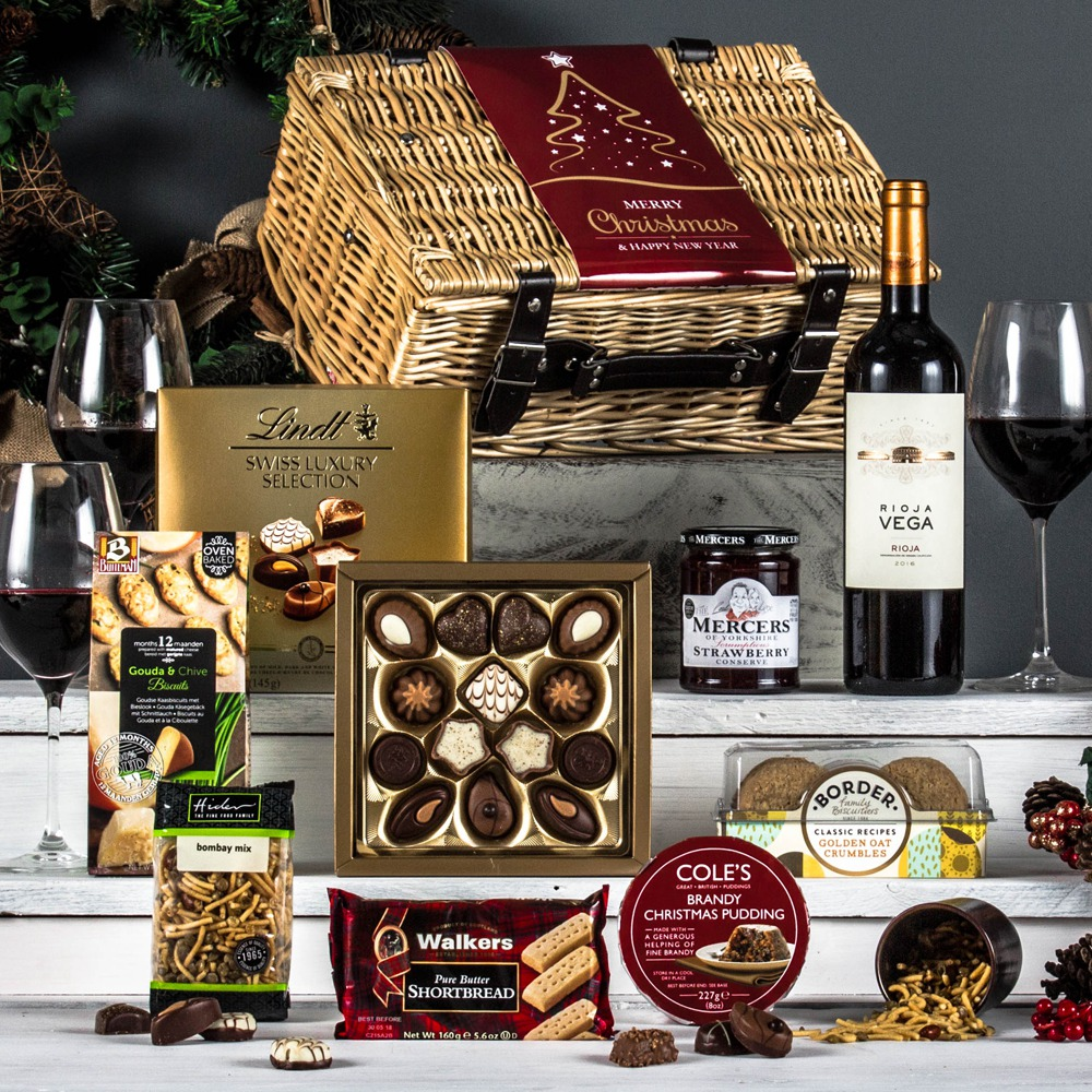 Wedding Gift Hampers Uk: The Red Fryton Corporate Christmas Hamper From Peach