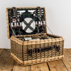 The Four Person Deluxe Fitted Tartan Hamper