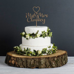 Personalised Wedding Cake Topper (Natural)