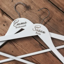 Personalised White Wedding Coat Hanger