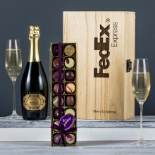 The Prosecco & Chocolate Engraved Wine Gift