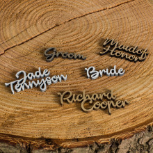 Personalised Wedding Name Places (Colour Choice)
