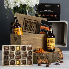 Personalised Engraved Best Man Hamper
