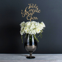 Personalised Giant Wedding Table Name or Number (Natural)
