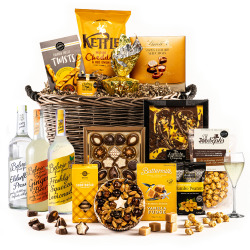The Golden Log Basket Hamper - Alcohol Free