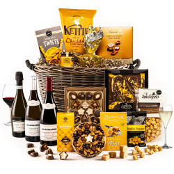 The Golden Log Basket Engarved Hamper