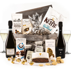 The Sparkling Star Engraved Crate with Prosecco