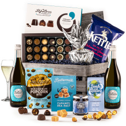 The Blue Moon Engraved Crate with Prosecco
