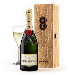 Moët & Chandon in an Engraved Wine Box