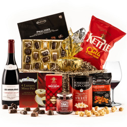 The Taste of Christmas Hamper with Red Wine