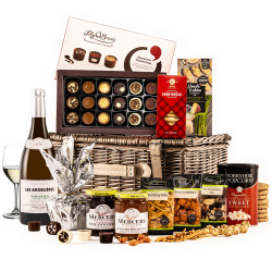 The Christmas Surprise Hamper with White Wine