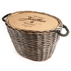 The Golden Log Basket Hamper