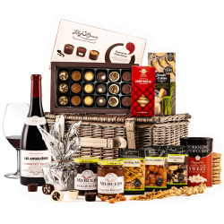 The Surprise Corporate Hamper with Red Wine