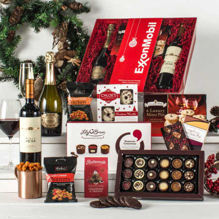 The Christmas Collection Hamper with Red Wine & Prosecco