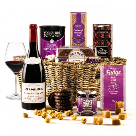 The Violet Sky Christmas Hamper with Red Wine