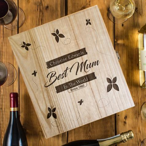 Best Mum In The World Three Bottle Box
