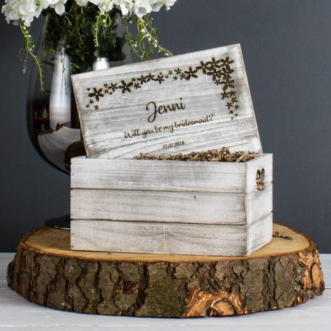 Personalised Engraved Bridesmaid Box