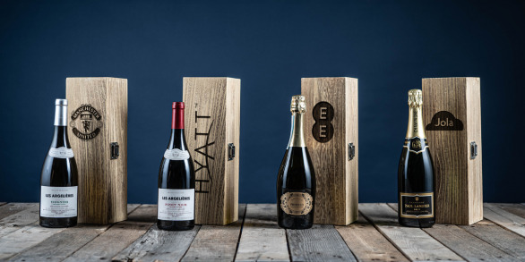 Single Engraved Wine Boxes