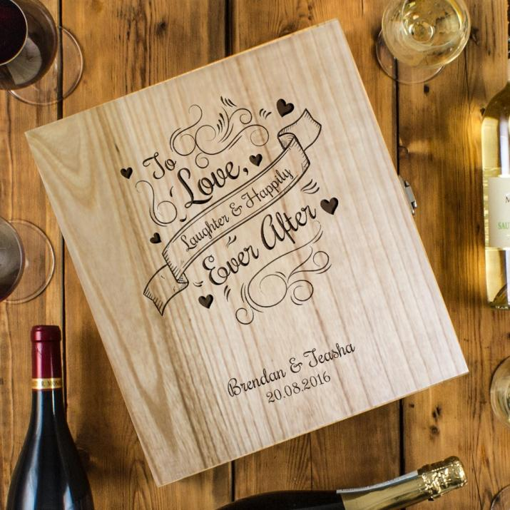 Love & Laughter Three Bottle Wine Box
